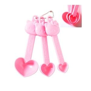 Hello Kitty Measuring Spoons 3 PC SET Hearts Pink